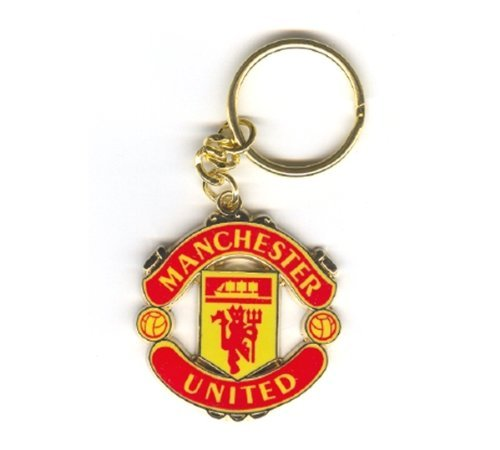 Manchester United F.C. OFFICIAL MANCHESTER UNITED CREST SHAPED KEYRING