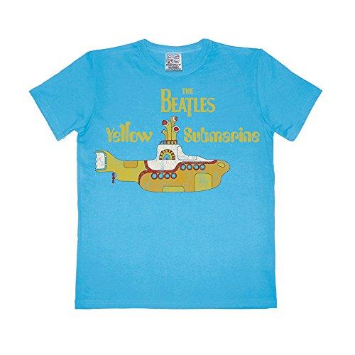 The Beatles - Vintage Yellow Submarine Easyfit T-Shirt - türkis - Lizenziertes Originaldesign - LOGOSHIRT, Größe M (Beatles-vintage-t-shirt Die)