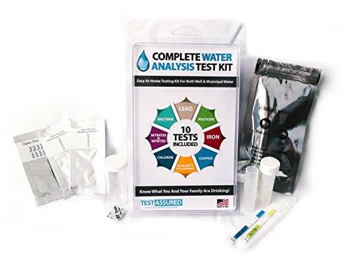 Kit de test d'eau potable-10minutes pour connaitre les bactéries, les pesticides, le fer, le cuivre et autres contenus dans l'eau