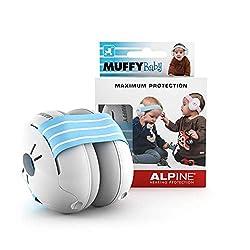 Alpine Muffy Baby Kapselgehörschützer - Gehörschutz für Babys und Kleinkinder bis 36 Monate - Lärmschutz Verhindert Gehörschäden - Verbessert den Schlaf unterwegs - Bequeme Passform - Blau