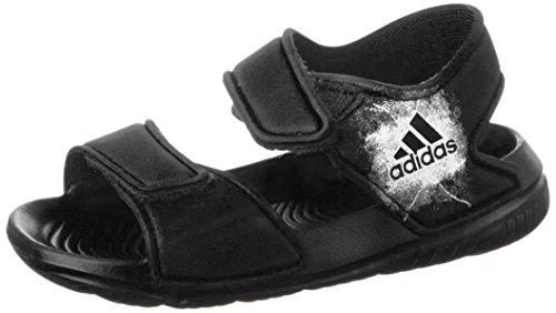 adidas Unisex Baby Altaswim Badeschuhe, Schwarz (Core Black/Ftwr White/Core Black), 24 EU