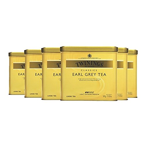 Twinings Earl Grey Tea, 500g Dose 6er Pack