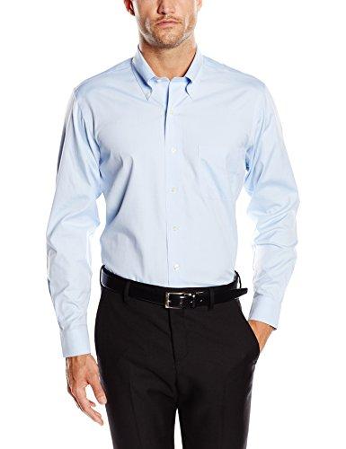 Brooks brothers dress non-iron botton down milano, camicia da uomo, light/pastel blue 73, 38 (collo in. 15 manica in. 33)