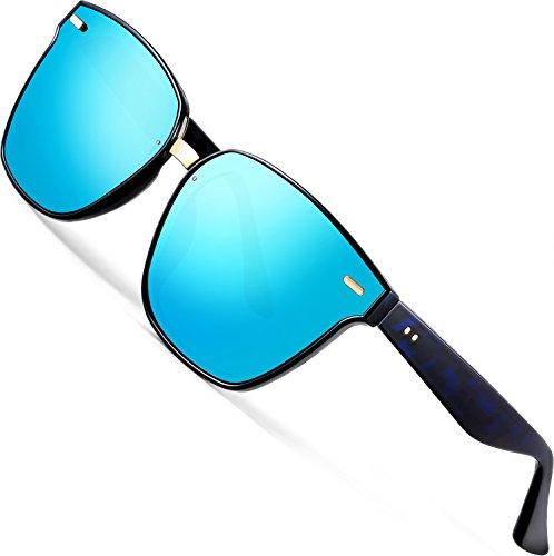 ATTCL Unisex Sonnenbrille 100% Polarisierter UV-Schutz Herren Damen 555-Blue