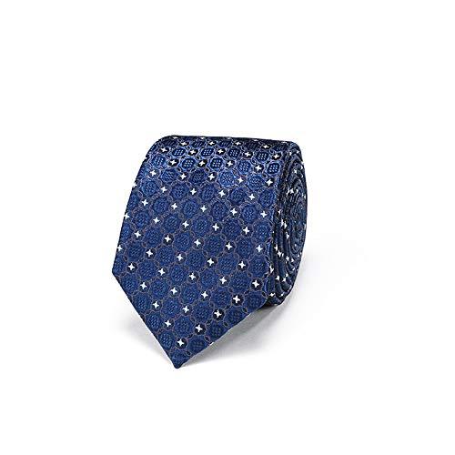 WUNDEPYTIE Mens Business Casual Krawatte Mode Krawatte Hochzeit Professionelle Kleid Krawatte, Saphir Stickerei (Saphir-krawattennadel)