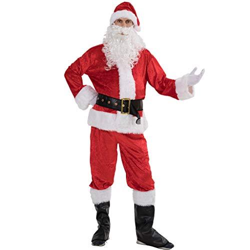 Deluxe Weihnachtsmann Anzug Kostüm - EraSpooky Weihnachten Erwachsene Deluxe Samt Weihnachtsmann Kostüm Anzug