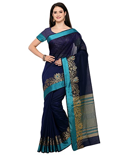 Saree Mall Women\'s art silk Saree With Blouse Piece (sarees new collection 3RJQ3003_Blue)