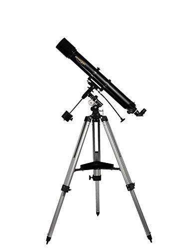 Omegon Teleskop AC 90/1000 EQ-2, Linsenteleskop mit 90mm Öffnung und 1000mm Brennweite