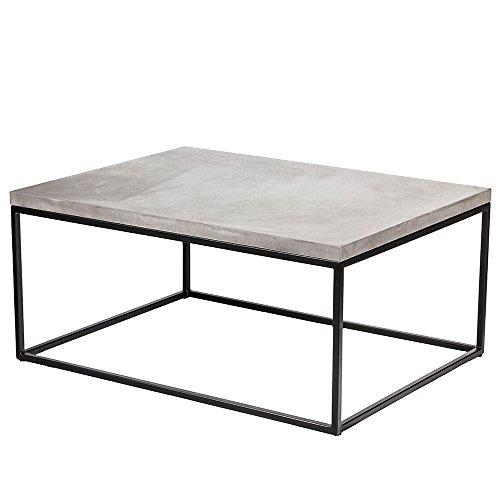b2manufaktur Design Beton Loungetisch - Couchtisch - Beistelltisch Industrial Look - SCHWARZES...