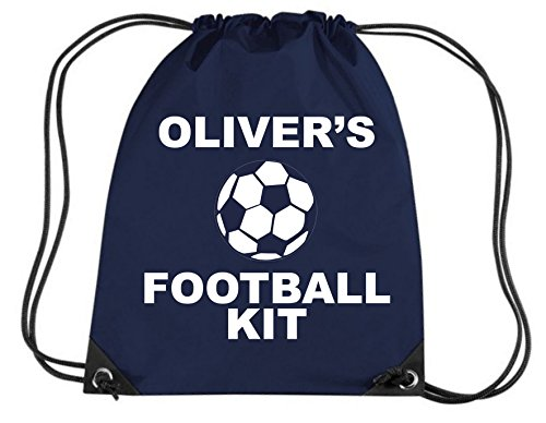 FRENCH NAVY PERSONALISED GIRL'S FOOTBALL KIT BAG with name - Girl's Gym/PE/Drawsting Bag In Navy Blue (PLEASE GO TO ADD GIFT OPTIONS.....ENTER NAME IN FREE GIFT MESSAGE SECTION...AND SAVE)