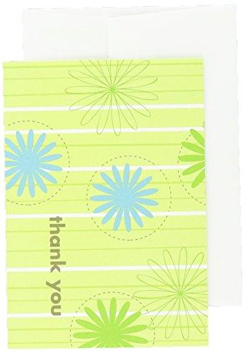 Tolles Papier. Daisy Streifen Thank You Note Karten mit Umschlägen, 12,4x 8,6cm 24Count (10675)