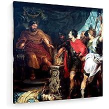 Rubens et van Dyck - Mucius Scaevola. - 100x100 cm - Impression sur toile - weewado - Art mural - Vieux Maîtres / Musée