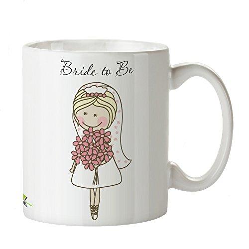 Kaffeebecher mit Aufschrift 'Bride to Be' als lustige Geschenkidee - DZ114