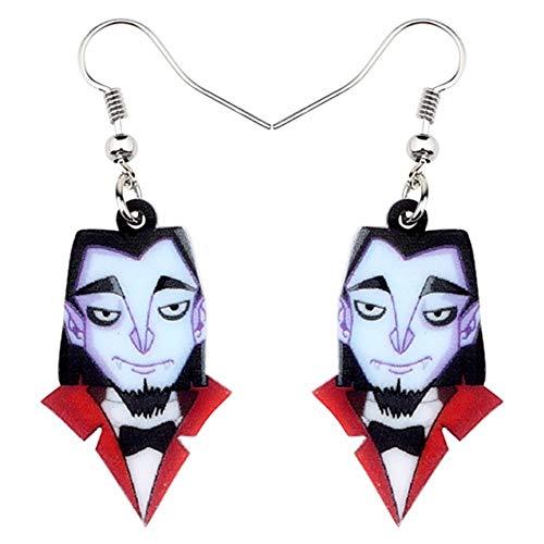 cker Ohrhänger Acryl Halloween Vampire Gentleman Ohrringe Tropfen Baumeln Kostüme Schmuck Für Frauen Mädchen Party Charms Dekoration ()