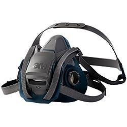 3M série 6500 - Demi-masque de protection réutilisable 3M 6502QL - Avec mécanisme de descente Quick Latch et soupape Cool Flow - 1 x masque taille standard