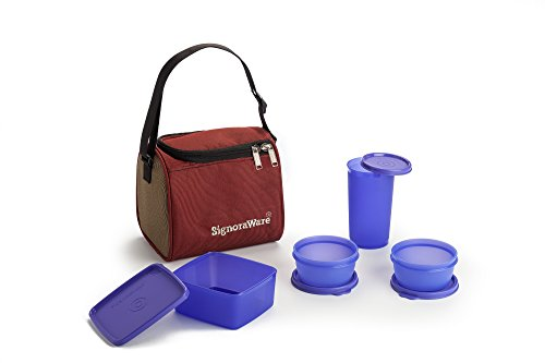 Signoraware Best Lunch Box with Bag Violet