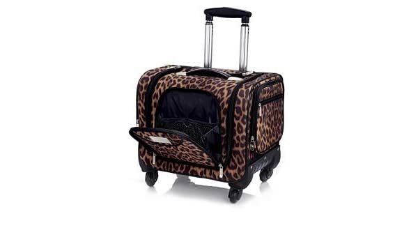 6e84651f7238 JHDIGITAL Weekender Bag with Snap In Toiletry Case by Lori Greiner LEOPARD   Amazon.co.uk  Luggage