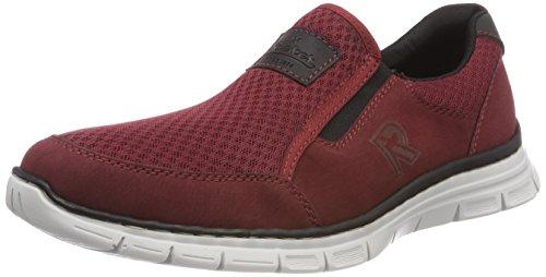 Rieker Herren B4873 Slip on Sneaker, Rot (Medoc/Bordeaux/Schwarz), 43 EU