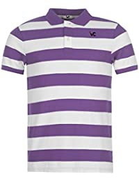 Days & Years Men's Cotton Polo T-Shirt (X-Large, White/Purple)