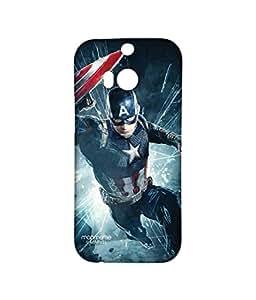 Licensed Marvel Comics Captain America Premium Printed Back cover Case for HTC One M8