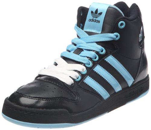adidas Originals Midiru Court Mid W, Baskets mode femme - Noir (Noir1/bleuaz/blanc), 36 EU