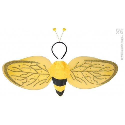 Widmann wid8228p-Biene Kostüm Set, weiß, Einheitsgröße (Kostüm Männer Biene Für)