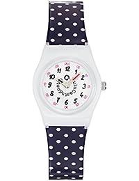 Lulu Castagnette - 38805 - Montre Fille - Quartz Analogique - Cadran Blanc - Bracelet Plastique Multicolore