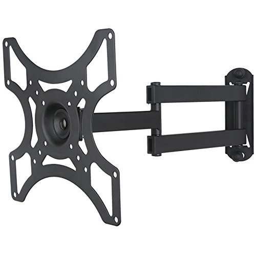 Black single-arm pivoting TV / monitor wall bracket, extendible from 5.4cm to 38.2cm, for Philips 29