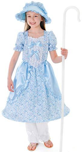 Girls Little Bo Peep Nursery Rhyme Tale World Book Day Week Fancy Dress Costume Outfit (7-9 years) (Kostüm Little Bo Peep)
