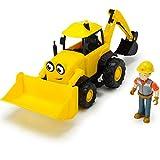 #1018 Bob der Baumeister Figur inklusive Baggi mit Sprachfunktion • Spielzeug Fahrzeuge Set Sound Schaufel Bagger