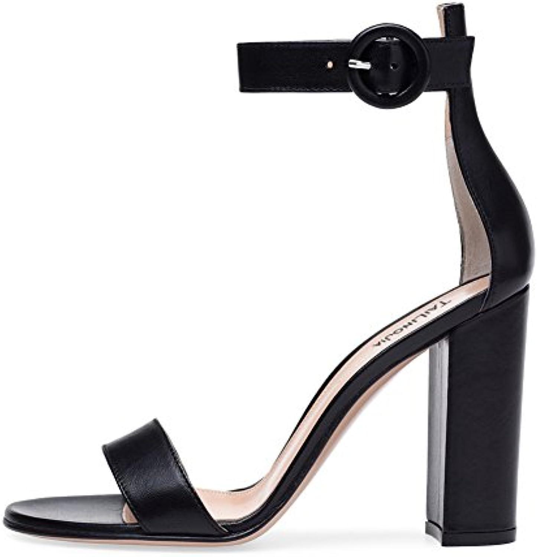 zpl wo    mesdames block au pied des sandales cheville noir parti à lanières escarpins chaussures taille bal le soir 3 5...b07d698p87 parent 06423e