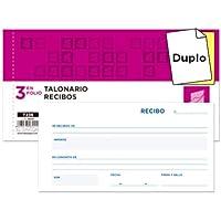 Liderpapel - Talonario recibos 3/fº original y copia t236 sin matriz (10 unidades)