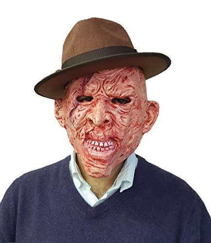 erbrannt Man Gesichtsmaske Halloween Kostüm Kleid Outfit Zubehör ()