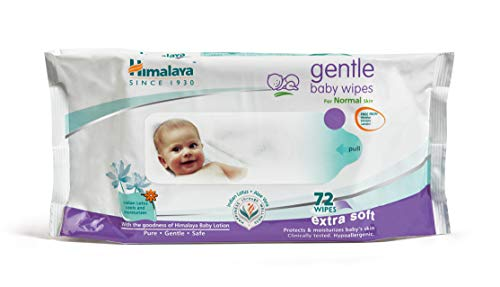 Himalaya Gentle Baby Wipes (72 Sheets)