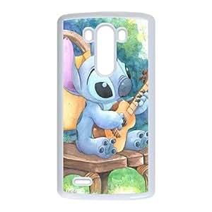 Lilo & Stitch 004 coque LG G3 Housse Blanc téléphone portable couverture de cas coque EOKXLKNBC34778