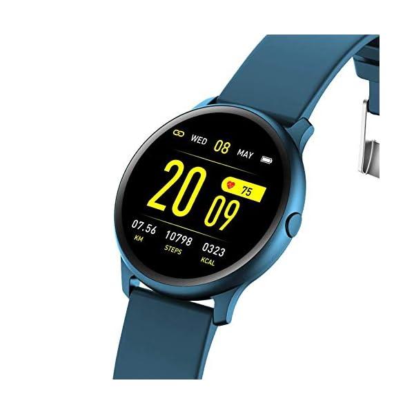 Naack Reloj Inteligente Pulsera Monitor de frecuencia cardíaca smartwatch Monitor De Ritmo Cardíaco Mujeres Hombres… 2