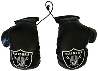 Nfl Oakland Raiders Car Rearview Mirror Mini Boxing Gloves