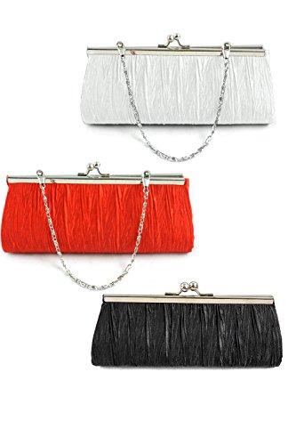 Vococal® Femmes Lady en Satin soir Wedding Party Purse embrayage sac à main sac à bandoulière unique Hasp petit porte-monnaie avec chaîne