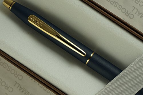 Cross Made in the USA Classic Century Lamina Matte Blue and 23KT Gold Appointments BallPoint Pen . Made in Lincoln RI , USA by Cross - Usa Cross Century
