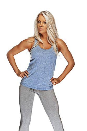 Bad Girl - Débardeur Fitness Bg Bleu