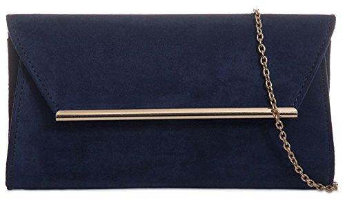 Hautefordiva , Pochette pour femme Bleu roi moyen Bleu marine
