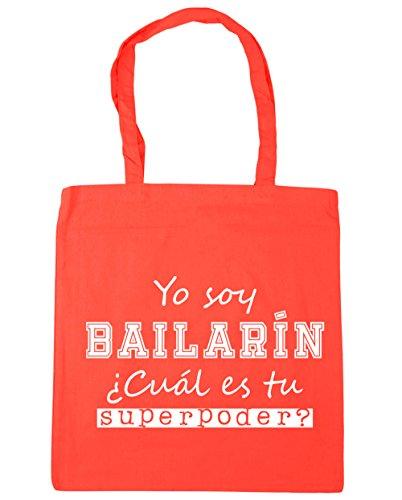 HippoWarehouse Yo Soy Bailarín, ¿Cuál es tu Superpoder? Bolso de Playa Bolsa Compra Con Asas para gimnasio 42cm x 38cm 10 litros capacidad