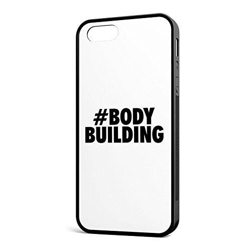 Smartcover Case Hashtag # Bodybuilding z.B. für Iphone 5 / 5S, Iphone 6 / 6S, Samsung S6 und S6 EDGE mit griffigem Gummirand und coolem Print, Smartphone Hülle:Iphone 6 / 6S weiss Iphone 5 / 5S schwarz
