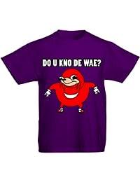 Flip Youth Kids Childrens T-Shirt Ugandan Knuckles Meme Do U Kno De wae ?