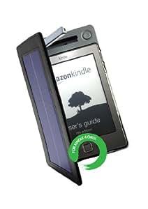 Étui en cuir avec chargeur solaire et lampe intégrée Amazon pour Kindle 4 - Noir