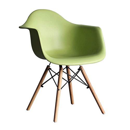 YLCJ Stühle Esszimmerstuhl, HYX002 Computer Stuhl, Bürostuhl, Verhandlungsstuhl, Home Office, Nordic Minimalist Style, Kunststoff mit Rückenlehne, mit Sessel (Farbe: Grün)