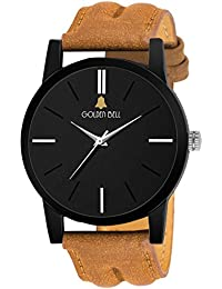 Golden Bell Original Analog Black Dial Men's Watch - GB852