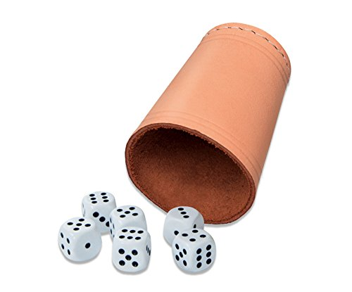 Dice Cup with 6 Dice