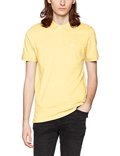SELECTED HOMME Herren T-Shirt Shharo SS Embroidery Polo NOOS Gelb (Sunshine)