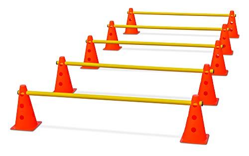 HAEST Steckhürdenset für Koordinationstraining - Orange-Gelb